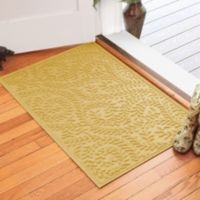 Weather Guard™ Boxwood 30-Inch x 45-Inch Door Mat in Yellow