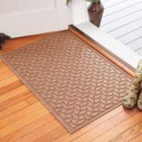 Weather Guard™ Ellipse 30-Inch x 45-Inch Door Mat in Medium Brown