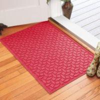 Weather Guard™ Ellipse 30-Inch x 45-Inch Door Mat in Solid Red