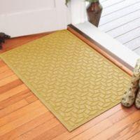 Weather Guard™ Ellipse 30-Inch x 45-Inch Door Mat in Yellow