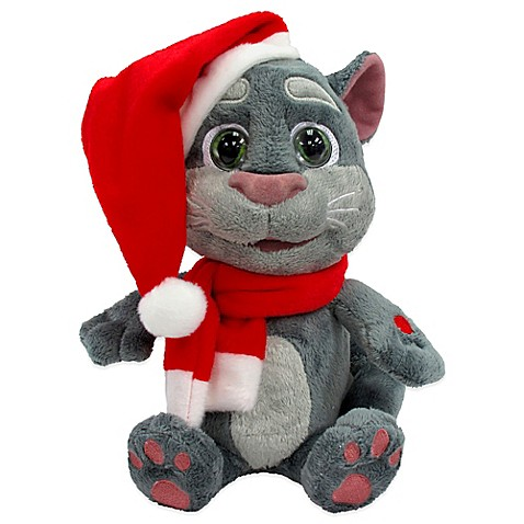 Interactive Talking Tom 11 Inch Plush Christmas Cat With