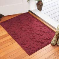 Weather Guard™ Brittney Leaf 30-Inch x 45-Inch Door Mat in Red/Black