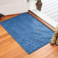 Weather Guard™ Brittney Leaf 30-Inch x 45-Inch Door Mat in Medium Blue