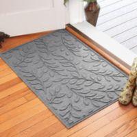 Weather Guard™ Brittney Leaf 30-Inch x 45-Inch Door Mat in Medium Grey