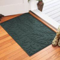 Weather Guard™ Brittney Leaf 30-Inch x 45-Inch Door Mat in Evergreen