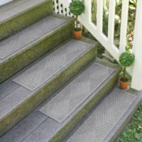 Weather Guard™ Diamonds 8.5-Inch x 30-Inch Stair Treads in Medium Grey (Set of 2)
