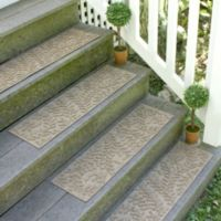 Weather Guard™ Boxwood 8.5-Inch x 30-Inch Stair Treads in Camel (Set of 2)