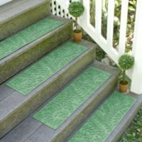 Weather Guard™ Boxwood8.5-Inch x 30-Inch Stair Treads in Light Green (Set of 2)