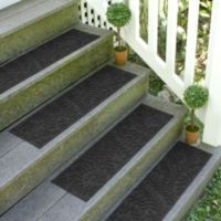 Weather Guard™ Boxwood 8.5-Inch x 30-Inch Stair Treads in Charcoal (Set of 2)