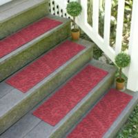 Weather Guard™ Boxwood 8.5-Inch x 30-Inch Stair Treads in Red/Black (Set of 2)