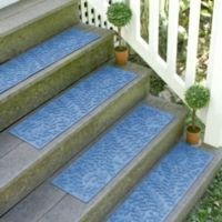 Weather Guard™ Boxwood 8.5-Inch x 30-Inch Stair Treads in Medium Blue (Set of 2)