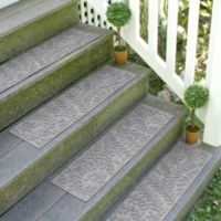 Weather Guard™ Boxwood 8.5-Inch x 30-Inch Stair Treads in Medium Grey (Set of 2)