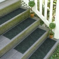 Weather Guard™ Boxwood 8.5-Inch x 30-Inch Stair Treads in Evergreen (Set of 2)