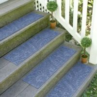 Weather Guard™ Boxwood 8.5-Inch x 30-Inch Stair Treads in Navy (Set of 2)