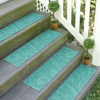 Weather Guard™ Boxwood 8.5-Inch x 30-Inch Stair Treads in Aquamarine (Set of 2)