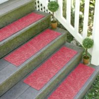 Weather Guard™ Boxwood 8.5-Inch x 30-Inch Stair Treads in Solid Red (Set of 2)