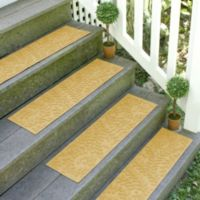 Weather Guard™ Boxwood 8.5-Inch x 30-Inch Stair Treads in Yellow (Set of 2)