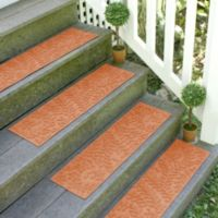 Weather Guard™ Boxwood 8.5-Inch x 30-Inch Stair Treads in Orange (Set of 2)
