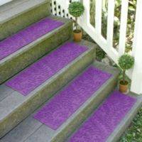 Weather Guard™ Boxwood 8.5-Inch x 30-Inch Stair Treads in Purple (Set of 2)