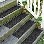 Weather Guard™  Ellipse 8.5-Inch x 30-Inch Stair Treads in Charcoal (Set of 2)