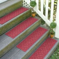 Weather Guard™ Ellipse 8.5-Inch x 30-Inch Stair Treads in Red/Black (Set of 2)