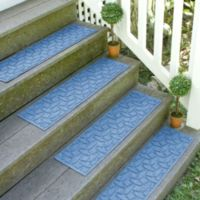 Weather Guard™ Ellipse 8.5-Inch x 30-Inch Stair Treads in Medium Blue (Set of 2)