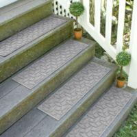 Weather Guard™ Ellipse 8.5-Inch x 30-Inch Stair Treads in Medium Grey (Set of 2)