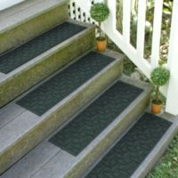 Weather Guard™ Ellipse 8.5-Inch x 30-Inch Stair Treads in Evergreen (Set of 2)