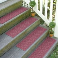 Weather Guard™ Ellipse 8.5-Inch x 30-Inch Stair Treads in Bordeaux (Set of 2)