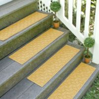 Weather Guard™ Ellipse 8.5-Inch x 30-Inch Stair Treads in Yellow (Set of 2)