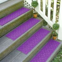 Weather Guard™ Ellipse 8.5-Inch x 30-Inch Stair Treads in Purple (Set of 2)