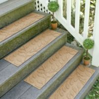 Weather Guard™ Brittney Leaf 8.5-Inch x 30-Inch Stair Treads in Gold (Set of 2)