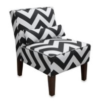Skyline Furniture Armless Chair in Zigzag
