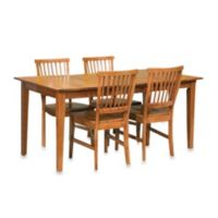 Home Styles Arts & Crafts Solid Wood 5-Piece Dining Table Set with Leaf in Cottage Oak