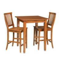 Home Styles Arts & Crafts 3-Piece Bistro Set in Oak