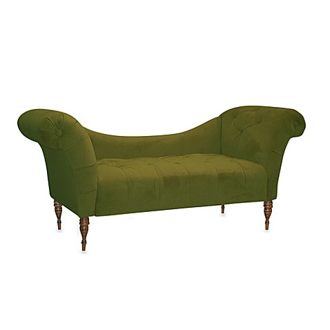 Skyline furniture tufted chaise lounge bed bath beyond for Bathroom chaise lounge