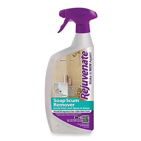 Rejuvenater 24 ounce soap scum remover bed bath beyond for Bathroom soap scum removal