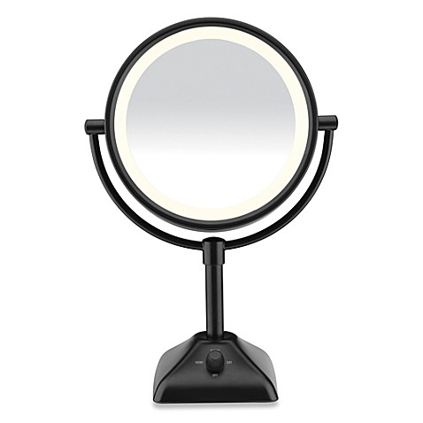 Conair 174 Variable Lighted 1x 10x Mirror In Black Bed Bath