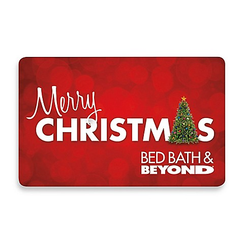 bedbathandbeyond gift card quot merry christmas quot tree gift card bed bath beyond 8751