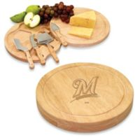 Picnic Time® Engraved MLB Milwaukee Brewers Circo Cheese Board Set