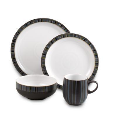 Denby Jet Stripes 4-Piece Place Setting  sc 1 st  Bed Bath \u0026 Beyond & Buy Denby Dinnerware from Bed Bath \u0026 Beyond