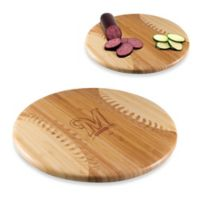 Picnic Time® Homerun! MLB Milwaukee Brewers Engraved Round Bamboo Cutting Board
