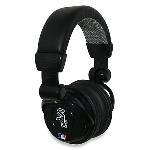 mlb chicago white sox ihip dj style headphones with inline microphone bed bath beyond. Black Bedroom Furniture Sets. Home Design Ideas