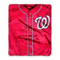 MLB Washington Nationals Jersey Raschel Throw Blanket