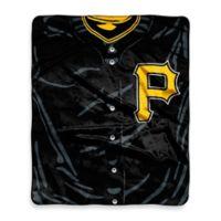 MLB Pittsburgh Pirates Vintage Raschel Throw Blanket