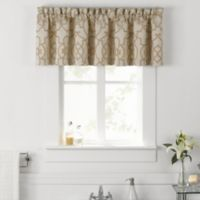 Vue® Signature Iron Gates Jacquard Valance in Ivory/Tan