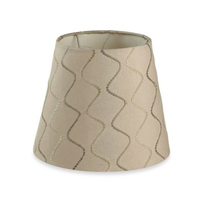 Buy lamp shades with harp from bed bath beyond mix match small 9 inch wave lamp shade in beige aloadofball Images