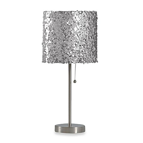 Buy Silver Sequin Table Lamp From Bed Bath Amp Beyond