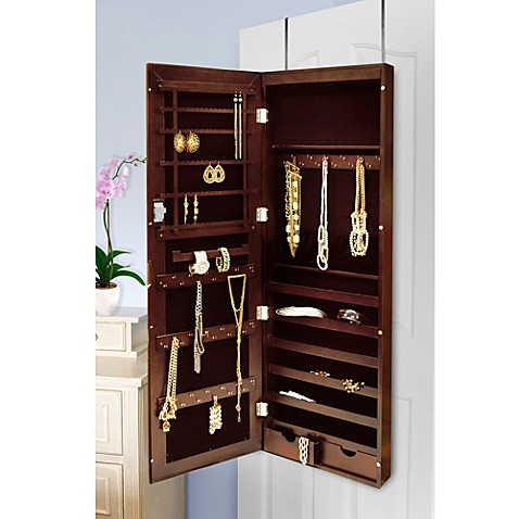 new view over the door mirrored jewelry armoire bed bath