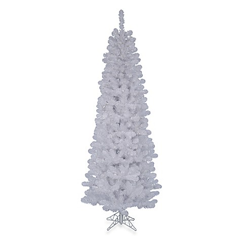 vickerman 7 5 foot white salem pine pencil christmas tree bed bath beyond. Black Bedroom Furniture Sets. Home Design Ideas
